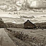 Ah...west Virginia Sepia Print by Steve Harrington