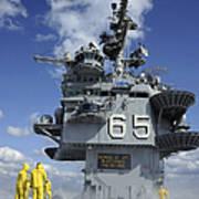 Air Department Sailors Test Print by Stocktrek Images
