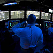 Air Traffic Controller Watches Print by Stocktrek Images