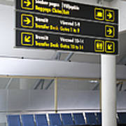 Airport Directional Signs Print by Jaak Nilson