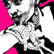 Aisha Pink Print by Naxart Studio