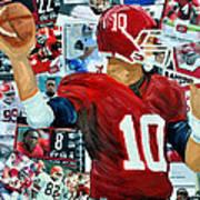 Alabama Quarter Back Passing Print by Michael Lee