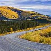 Alaska Highway Near Beaver Creek Print by Yves Marcoux