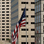 American Flag In The City Print by Blink Images