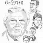 Andy Griffith Print by Gail Schmiedlin