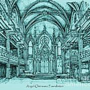 Angel Orensanz In Blue Print by Adendorff Design
