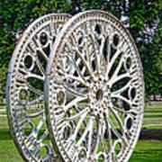 Antique Paddle Wheel University Of Alabama Birmingham Print by Kathy Clark