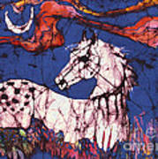 Appaloosa In Flower Field Print by Carol Law Conklin
