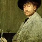 Arrangement In Grey - Portrait Of The Painter Print by James Abbott McNeill Whistler