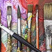 Art Is Messy 6 Print by Carol Leigh