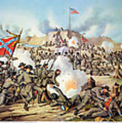 Assault On Fort Sanders Print by Granger