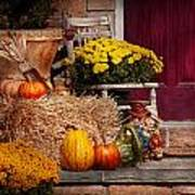 Autumn - Gourd - Autumn Preparations Print by Mike Savad