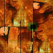 Autumn Abstracton Print by Ann Powell