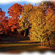 Autumn On Swanson's Path Print by Liz Evensen