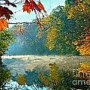 Autumn On The White River I Print by Julie Dant