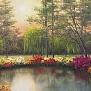 Autumn Sunset Print by Diane Romanello