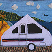 A'van By The Sea Print by Patricia Tapping
