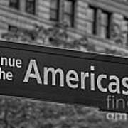 Avenue Of The Americas Print by Susan Candelario