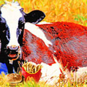 Bad Cow . 7d1279 Print by Wingsdomain Art and Photography