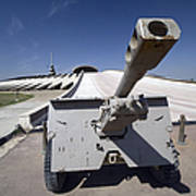 Baghdad, Iraq - An Iraqi Howitzer Sits Print by Terry Moore