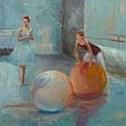 Ballet Class With Balls Print by Irena  Jablonski