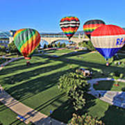 Balloons In Coolidge Park Print by Tom and Pat Cory
