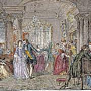 Ballroom, 1760 Print by Granger