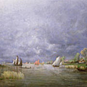 Banks Of The Loire In Spring Print by Charles Leroux