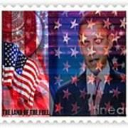 Barack A Stamp Print by Fania Simon