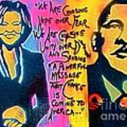 Barack And Michelle Print by Tony B Conscious