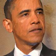 Barack Obama Print by Nop Briex