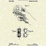 Bare Ball Curver 1909 Patent Art Print by Prior Art Design