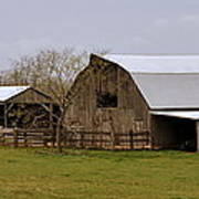 Barn In The Ozarks Print by Marty Koch