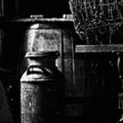 Barrel In The Barn Print by Jim Finch