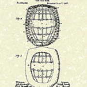 Baseball Mask 1887 Patent Art Print by Prior Art Design