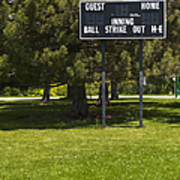Baseball Scoreboard Print by Thom Gourley/Flatbread Images, LLC