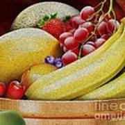 Basket Of Fruit Print by Cheryl Young