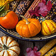 Basketful Of Autumn Print by Garry Gay