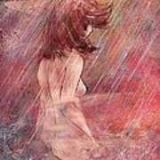 Bathing In The Rain Print by Rachel Christine Nowicki