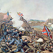 Battle Of Franklin November 30th 1864 Print by American School