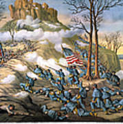 Battle Of Lookout Mount Print by Granger