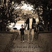 Be A Dad Print by Kelly Hazel