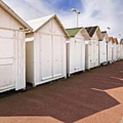 Beach Huts Print by Jon Boyes