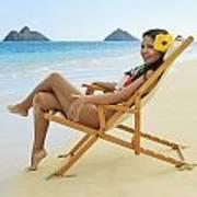 Beach Lounger Print by Tomas del Amo
