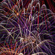 Beautiful Fireworks Print by Garry Gay