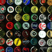 Beer Bottle Caps . 9 To 12 Proportion Print by Wingsdomain Art and Photography