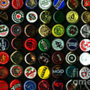 Beer Bottle Caps . 8 To 12 Proportion Print by Wingsdomain Art and Photography