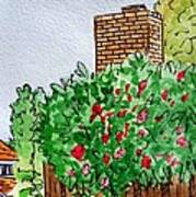 Behind The Fence Sketchbook Project Down My Street Print by Irina Sztukowski