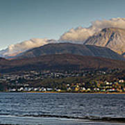 Ben Nevis And Loch Linnhe Panorama Print by Gary Eason