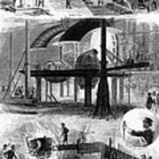 Bessemer Steel, 1876 Print by Granger